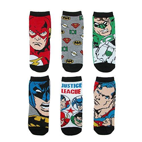 DC Comics Boys Toddler Justice League Socks (6 Pair Pack)