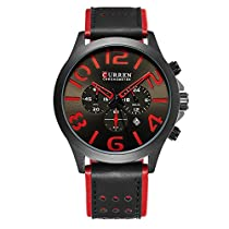 Curren Mens Watch with Date Leather Wrist Band Watch Best Gift for men 8244