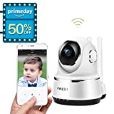 FREDI Wireless Baby Monitor Security IP Home 720p Wifi Camera with Two-Way function,Infrared Night Vision,Pan Tilt,P2P Wps Ir-Cut Nanny ip Camera Motion Detection Support 128GB sd card(not include)