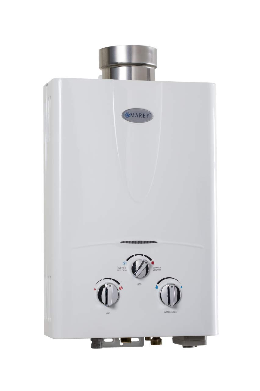 Marey Power Gas 5L 1.3GPM Propane Gas Tankless Water Heater
