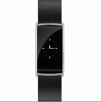 Brazalete de fitness Medidor de frecuencia cardíaca Smart Reloj de pulsera Fitness Tracker Tensiómetro de pulsera calorías contador brazalete deportivo para ...