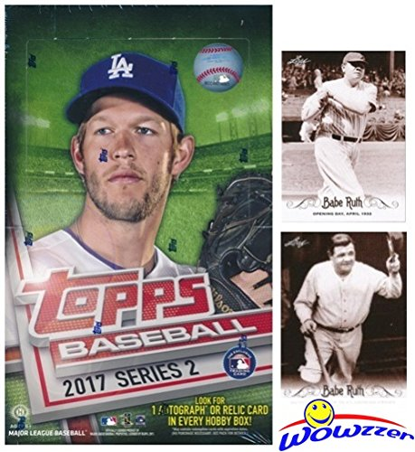 Collection Hobby Box (2017 Topps Series 2 MLB Baseball MASSIVE 36 Pack Factory Sealed HOBBY Box with 360 Cards & AUTOGRAPH or RELIC Plus BONUS (2) Babe Ruth Cards! Features Over (35) Insert & Parallel Cards! WOWZZER!)