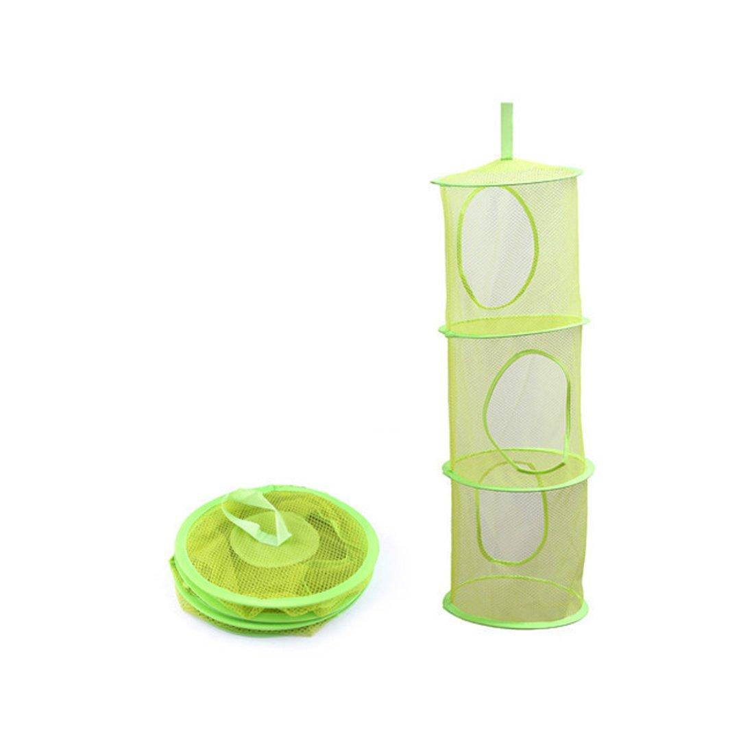Luwu-Store 3/Regal Spielzeug zum Aufh/ängen Organizer Tasche Aufbewahrung Netz Korb Schlafzimmer Schrank Organisatoren Rose