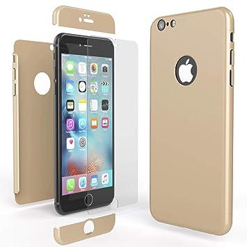 NALIA Funda Integral Compatible con iPhone 6 6S, Carcasa Completa con Cristal Templado, Ultra-Fina Movil Cubierta Dura Bumper Delantera y Trasera ...