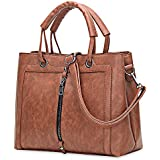 KCatsy High-End Single Shoulder Diagonal Retro Simple Handbag Elegant Faux Leather Women Tote Bag