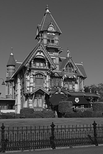 24 x 36 B&W Giclee Print The Carson Mansion is a Large Victorian House Located in Old Town, Eureka, California 2013 Highsmith 35a