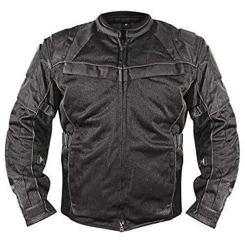 (Xelement XS8160 'All Season' Men's Black Tri-Tex/Mesh Jacket - Medium)