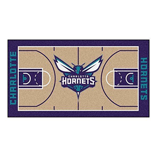 Charlotte Basketball Rug - FANMATS NBA Charlotte Hornets Nylon Face NBA Court Runner-Large
