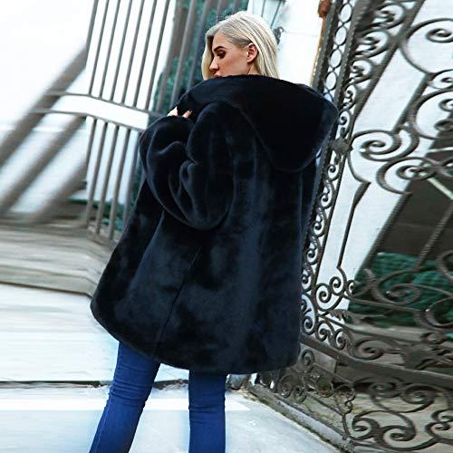 Sudaderas Largo Mujeres Casual Sobretodo de Abrigo de Parka Outwear con Negro Capucha STRIR Sólido Capucha Cardigan Ropa Chaqueta con Abrigo Mujer con Capucha Slim 47xtTUq