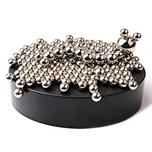 Magnetic Sculpture Desk Toy for Intelligence Development and Stress Relief (Set of 160 Balls, 1 Magnet Base)