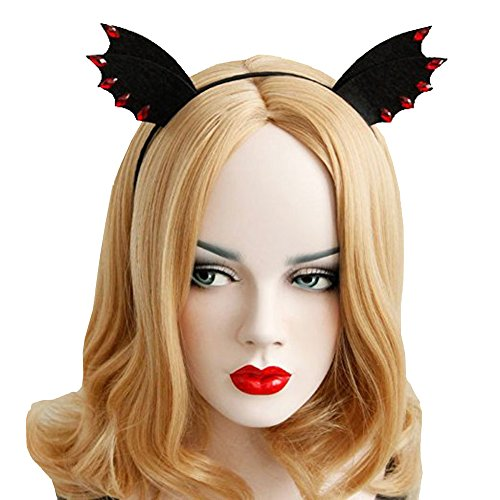 Bodermincer Black Bat Ears Hairband Cosplay Fancy Dress Clothes Masquerade Headbands Women Hair Band Accessories -