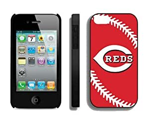 Best Iphone 4/4s Case MLB Cincinnati Reds Sports Element Coolest Custom Made Mobile Accessories