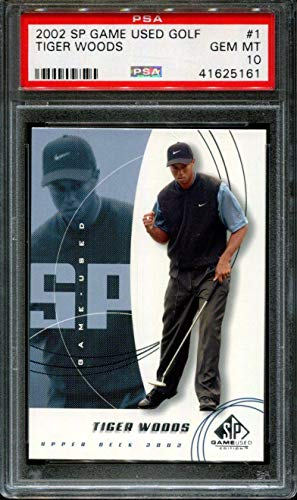 2002 Sp Game Used Golf #1 Tiger Woods 10 X2628595 161 PSA/DNA Certified Golf Tournament Used