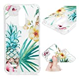 Badalink LG K30 Case, LG K10 2018 Cute Case Thicken Edge Drop Protection Painting Cover Shock Absorption Bumper Slim Soft Shell Skin for LG Harmony 2 / Phoenix Plus/Premier Pro (Pineapple)