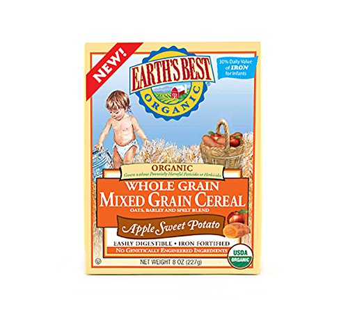 Earth's Best Baby Cereal - Mixed Grain Apple Sweet Potato - 8 oz by Earth's Best (Image #1)