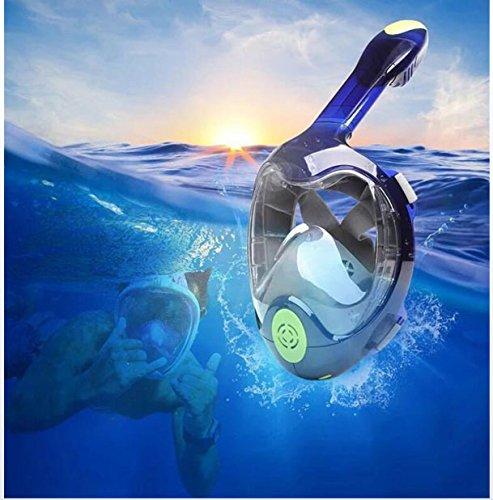 スノーケリングマスクアンチフォグ180°パノラマビュー無料呼吸ダイビングマスク B07G2Z7DD2 double Large Large|double