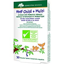 Genestra Brands - HMF Child + Multi - Vitamin and Probiotic Formula - Natural Blackcurrant Flavour - Promotes Immune, Gastrointestinal, and Overall Health - 30 Chewable Tablets