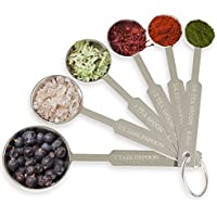Royal Cooking Baking Measuring 6-Pieces Spoon Set Stainless Steel Measure Spoons