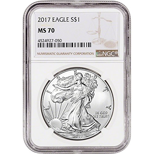 2017 American Silver Eagle (1 oz) Large Label $1 MS70 NGC