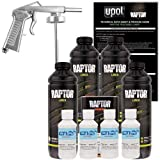 U-POL Raptor Bright White Urethane Spray-On Truck Bed Liner Kit w/Free Spray Gun, 4 liters