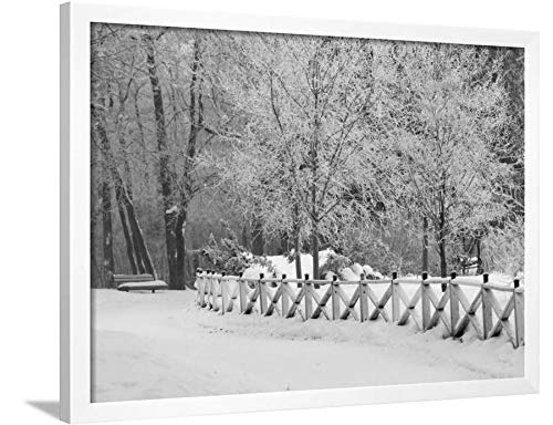 ArtEdge Winnipeg Manitoba, Canada Winter Scenes Keith Levit, White Framed Wall Art Print, 24x32 in (Canada Winnipeg Manitoba Scenes Winter)