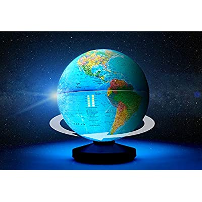 Self-Rotating Illuminating Globe: Office Products