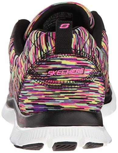 Skechers Sport Frauen ziemlich Bitte Flex Appeal Fashion Sneaker Schwarz