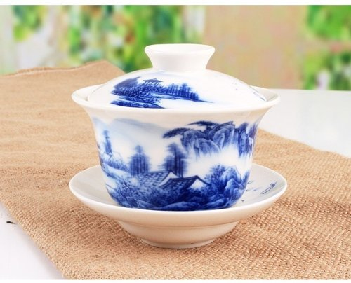 Sado China Traditional Blue and White Porcelain Large for sale  Delivered anywhere in USA