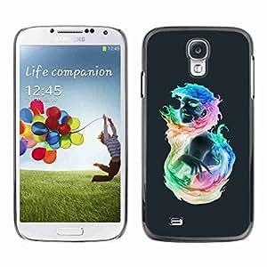 Planetar? ( Colorful Flaming Girl ) Samsung Galaxy S4 IV (I9500 / I9505 / I9505G) / SGH-i337hard printing protective cover protector sleeve case