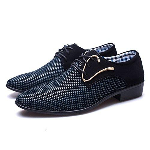 Taglie Eleganti Oxford Blu Uomo Scarpe Forti Uomo Esthesis Scarpe 48 38 Scarpe Casual 8wSn4q