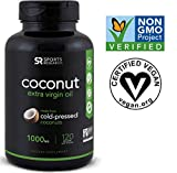 Virgin Coconut Oil (120 veggie-softgels) Made from Organic Coconuts | The Only non-GMO project verified, Vegan safe, Extra Virgin Coconut Oil Supplement Available Review