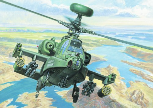 Italeri 1:72 Aircraft No 080 Ah-64 D Apache Longbow Model Kit (Apache Ah 64 Longbow)