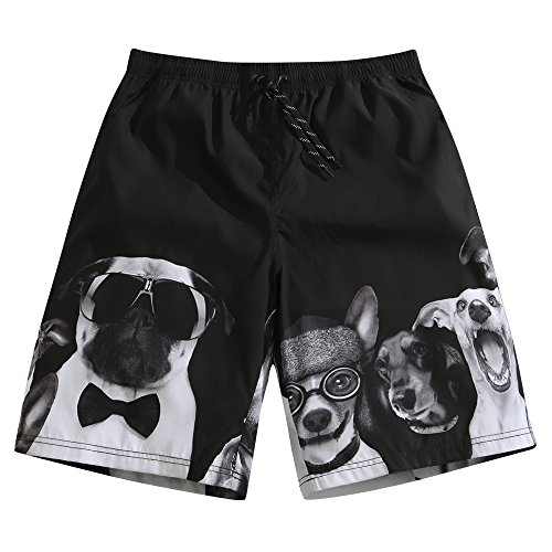SULANG Men's Lightweight Quick Dry Puppy Lover Graphic Board Shorts XX-Large - Suit Male In