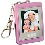 August DP150 - 1,5 Zoll Digitaler Bilderrahmen - Fotorahmen mit Schlüsselanhänger (pink)