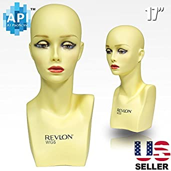 """Amazon.com: 17"""" Female Life size Mannequin Head for Wigs"""