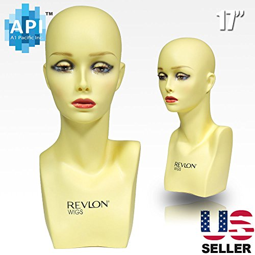 17'' Female Life size Mannequin Head for Wigs, Hats, Sunglasses Jewelry Display PH-17 by A1 Pacific Inc.
