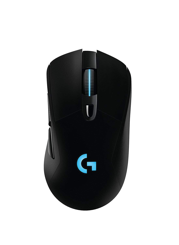 Logitech G703 Lightspeed Wireless Gaming Mouse W/Hero 16K Sensor, Lightsync RGB, PowerPlay Compatible, Lightweight 95G+10G Optional, 100-16, 000 DPI, Rubber Side Grips