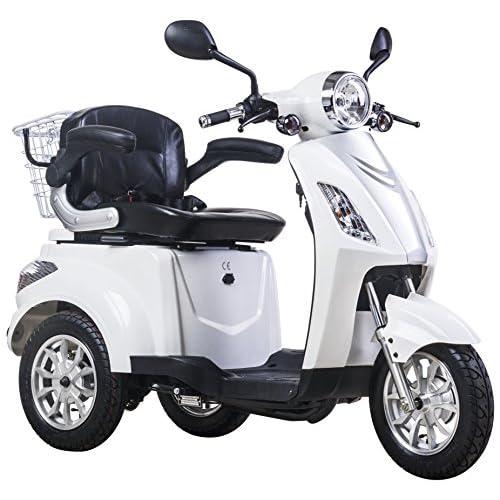 Voiture électrique - Véhicule pour senior - Tricycle électrique - 25 Km/h - Rouge