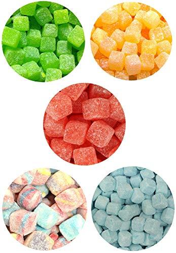 Kola Cubes Pineapple Apple Tutti Fruiti Raspberry Pick N Mix Retro Sweets (Mix Up Cubes – 5 Flavours, 1.5 Kilogram)