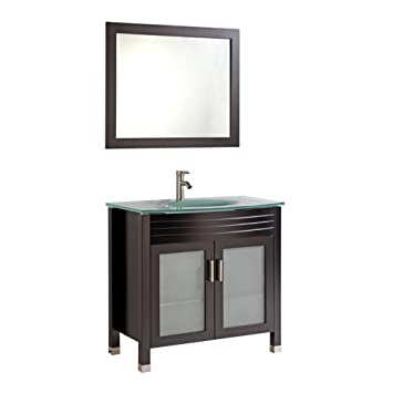 Legion Furniture Wa3236e 36 Tempered Glass Top Single Sink Bathroom