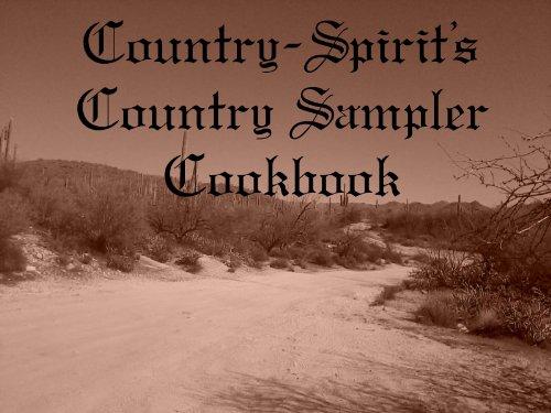 Country-Spirit's Country Sampler Cookbook -