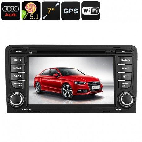 Coche 2-DIN DVD para Audi A3 - sistema operativo Android, WiFi, GPS, pantalla de 7 pulgadas, Google Play, Quad-Core CPU: Amazon.es: Electrónica