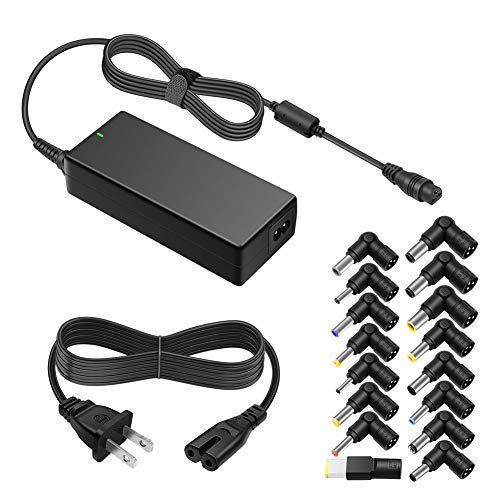 ZOZO 90W AC Universal Laptop Charger for HP Dell Toshiba IBM Lenovo Acer ASUS Samsung Sony Fujitsu Gateway Notebook Ultrabook Chromebook DC Output 15V 16V 18.5V 19V 19.5V 20V Power Adapter Supply Cord