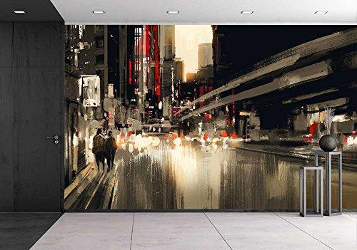 City Street Digital Painting Illustration