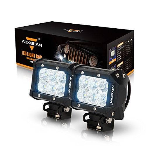 Auxbeam® 2Pcs 4″ 18W CREE LED Work Light