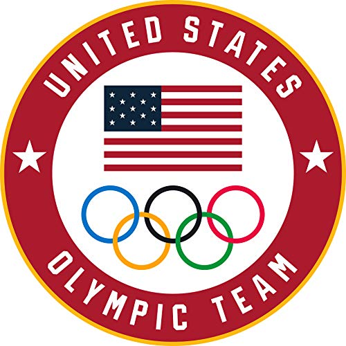 2020 Summer Olympics Tokyo Japan Team USA Flag & Olympic Rings Lapel ()