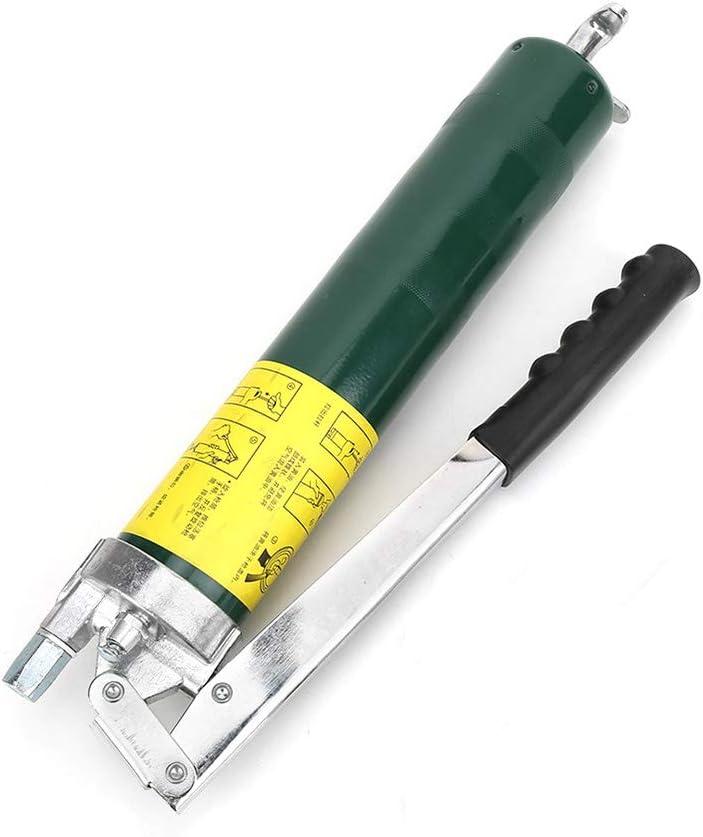 Pistola engrasadora grado profesional para trabajo pesado, con manguera flexibleacoplador, pequeño juego de extensión portátil, herramienta casera, puede utilizar ampliamente maquinaria pesada ligera