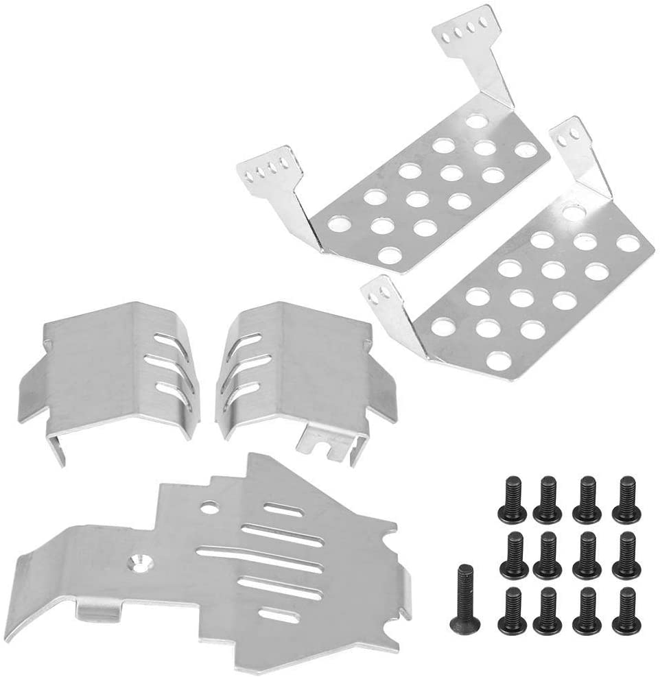 for Traxxas TRX-4 82056-4 for RC Car RC Vehicle Parts Stainless Steel Skid Plate 5 Pcs RC Chassis Armors