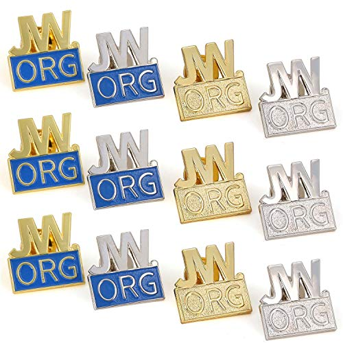 12 Pack JW org Pin Made by Solid Metal Toned Into Gold Or Silver Great  Jw org Presents for Jehovah's Witnesses