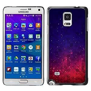 Be Good Phone Accessory // Dura Cáscara cubierta Protectora Caso Carcasa Funda de Protección para Samsung Galaxy Note 4 SM-N910 // Stars Space Purple Blue Night Sky Vibrant